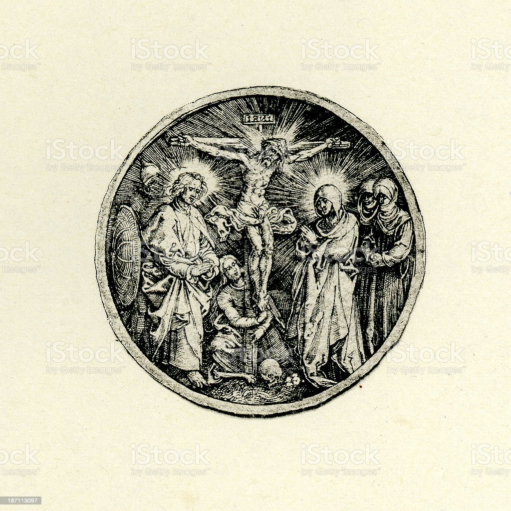 Jesus Christ on the Cross royalty-free stock vector art