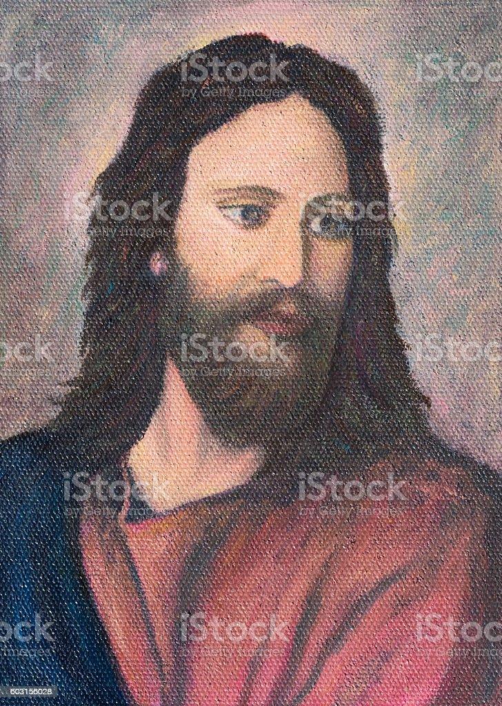Jesus Christ Original Oil Painting On Canvas Stock Vector Art More