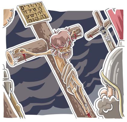 Смерть Иисуса На Крест — стоковая векторная графика и другие изображения на тему Jesus Christ