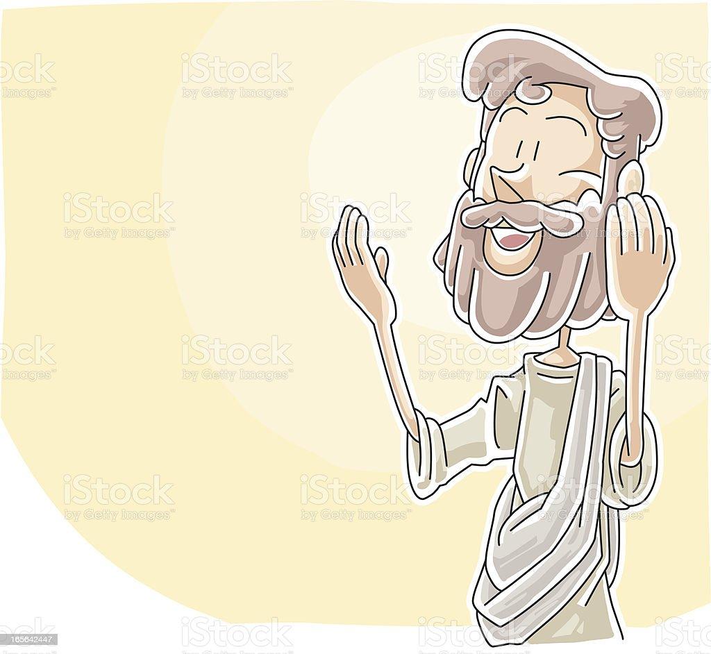 Jesus is teaching royalty-free stock vector art