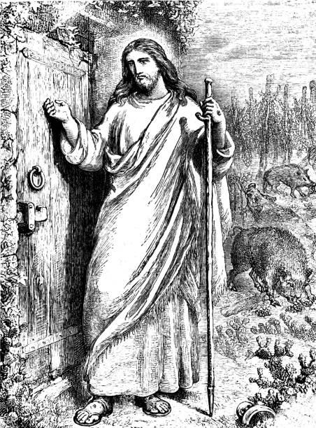 Jesus knocking at the door stock vector art more images of 16th jesus knocking at the door stock vector art more images of 16th century 821819894 istock altavistaventures Gallery
