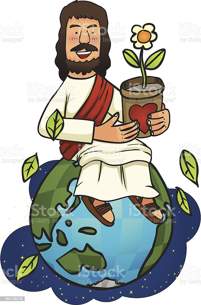 Jesus Love our world royalty-free stock vector art
