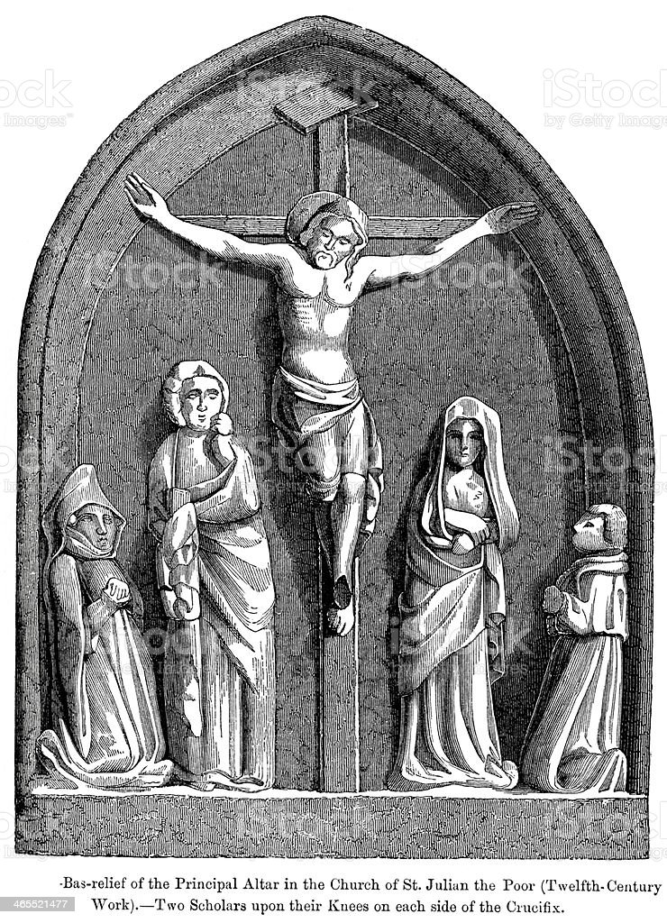 Jesus on the Cross royalty-free jesus on the cross stock vector art & more images of antique