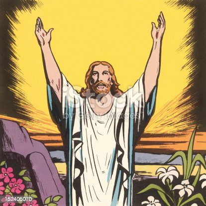 Jesus Raising His Arms
