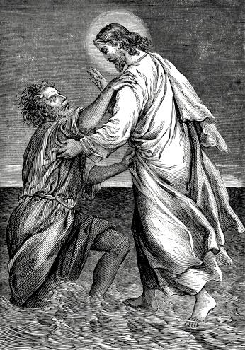 Jesus Saving Peter