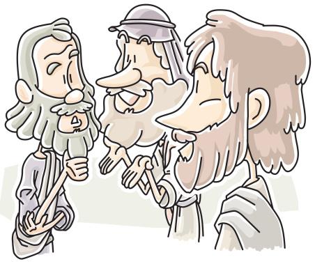 Jesus Saw Philip E Nathanael - Arte vetorial de stock e mais imagens de Adulto