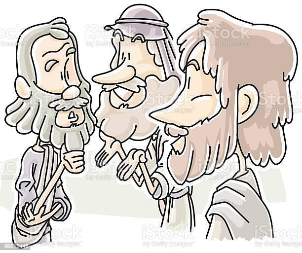 Jesus Saw Philip And Nathanael-vektorgrafik och fler bilder på Andlighet