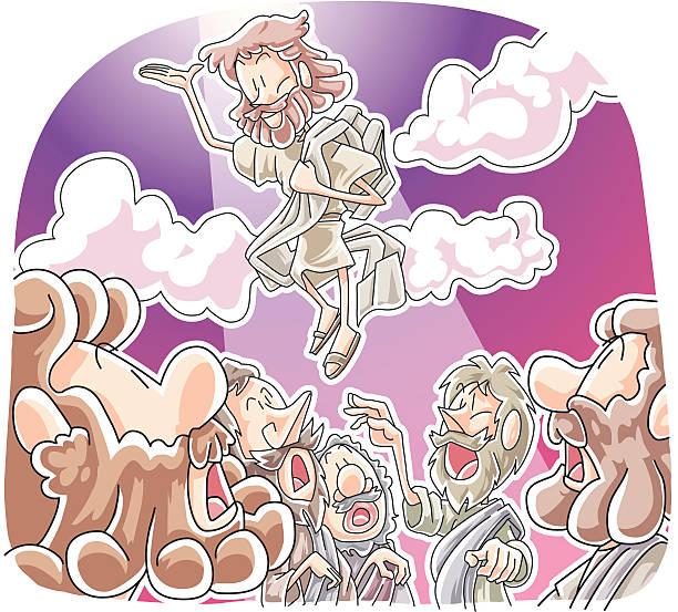 Jesus Taken Up Into Heaven vector art illustration