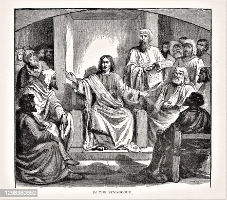 istock Jesus Teaches in the Synagogue 1298380952