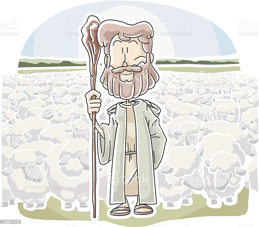 Jesus The Good Shepherd Stock Vector Art Amp More Images Of