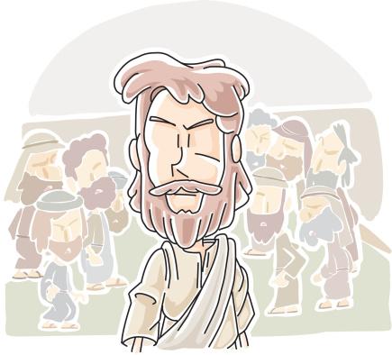 Jesus Acompanhou The Crowd Expressão Inglesa - Arte vetorial de stock e mais imagens de A caminho