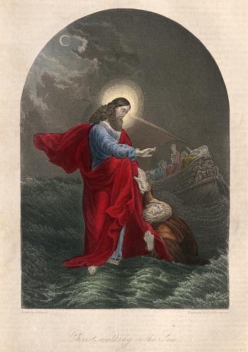 Jesus walking on the sea