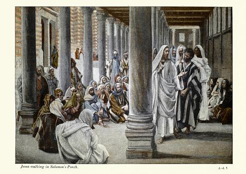 Jesus Walks in the Portico of Solomon, New testament art