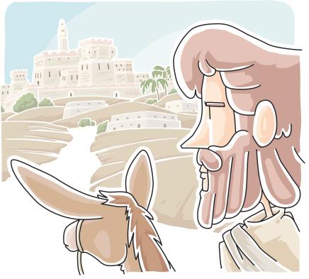 Jesus Wept For Jerusalem Stockvectorkunst en meer beelden van Alleen mannen