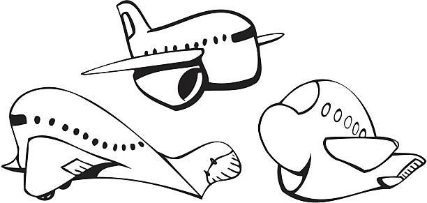 jet-Flugzeuge – Vektorgrafik