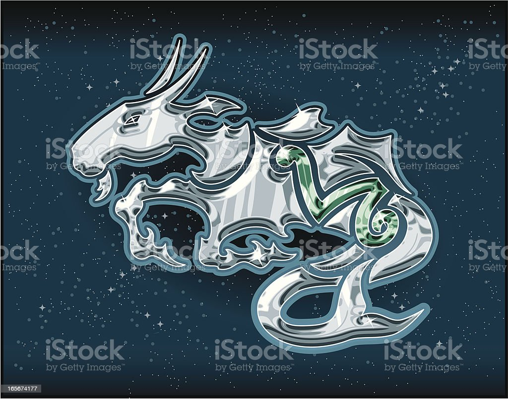 Jeweled Capricorn royalty-free jeweled capricorn stock vector art & more images of animal