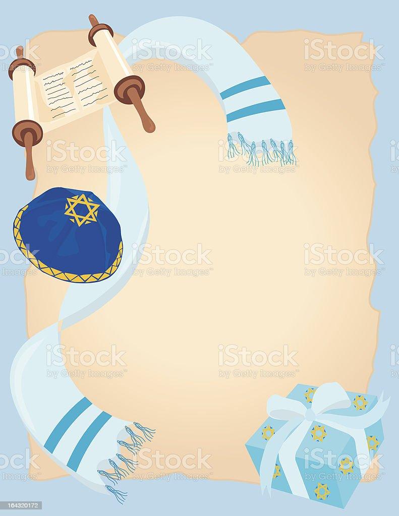 Jewish Bar or Bat Mitzvah Invitation royalty-free stock vector art