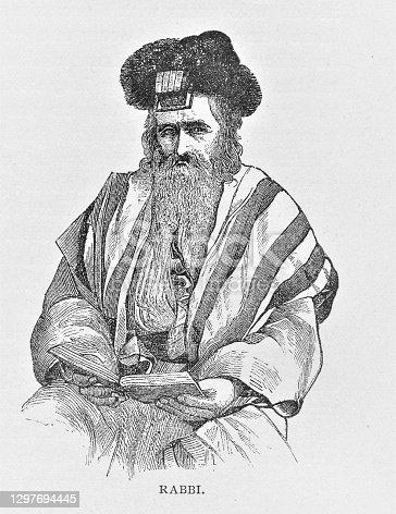 istock Jewish Rabbi Portrait 1297694445
