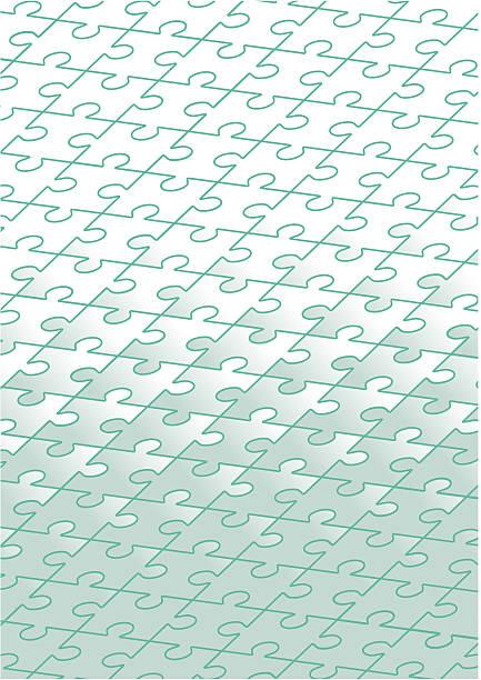 Jigsaw Puzzle Background  leite stock illustrations