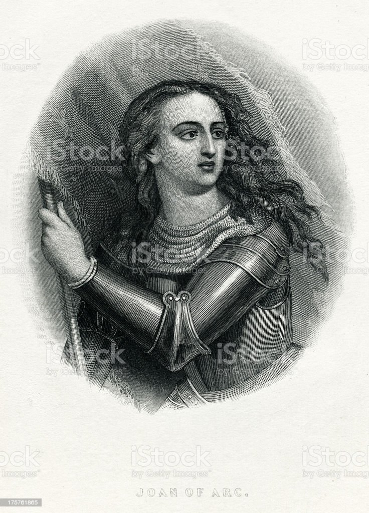 Joan Of Arc royalty-free stock vector art