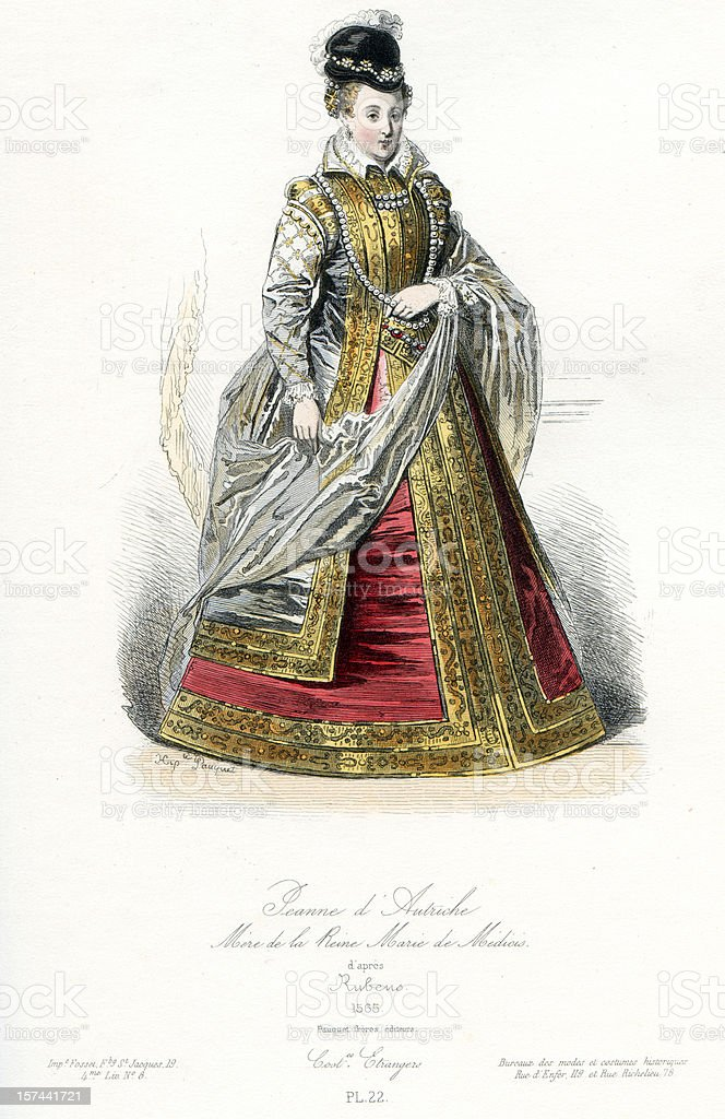 Joan of Austria royalty-free stock vector art