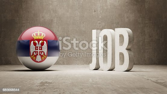 Job Concept - Arte vetorial de stock e mais imagens de Anúncio de trabalho 685668544