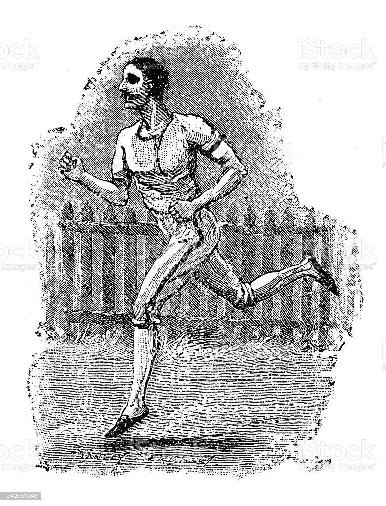 Jogging vector art illustration