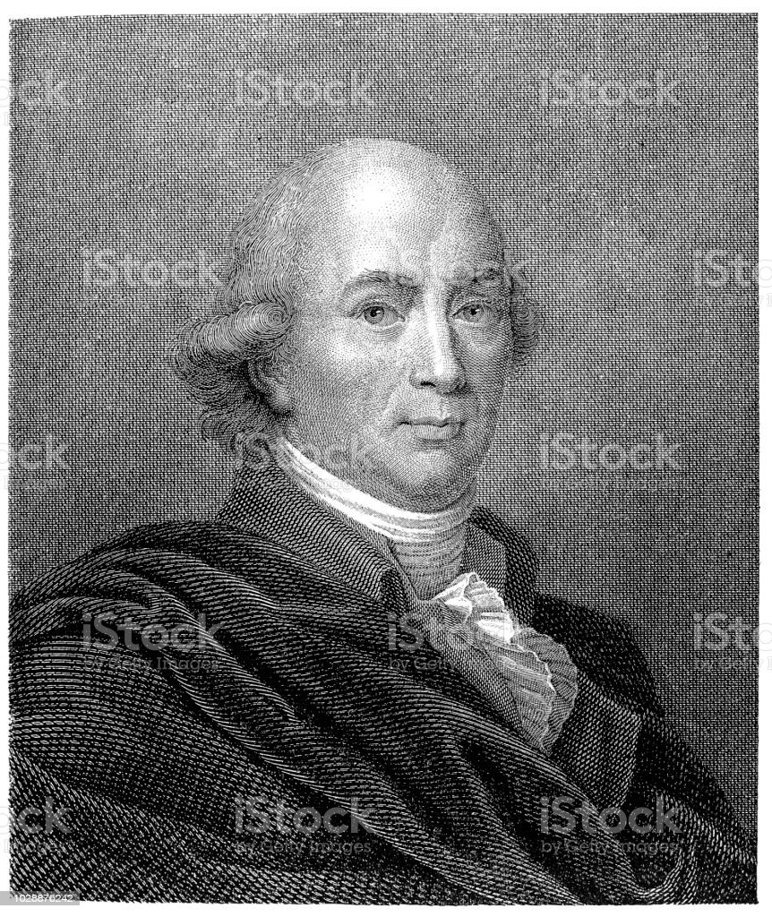 Johann Gottfried von Herder (1744-1803), German poet vector art illustration