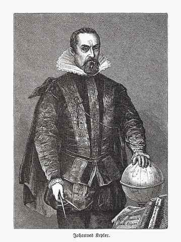 Johannes Kepler (1571-1630), German astronomer, wood engraving, published in 1893