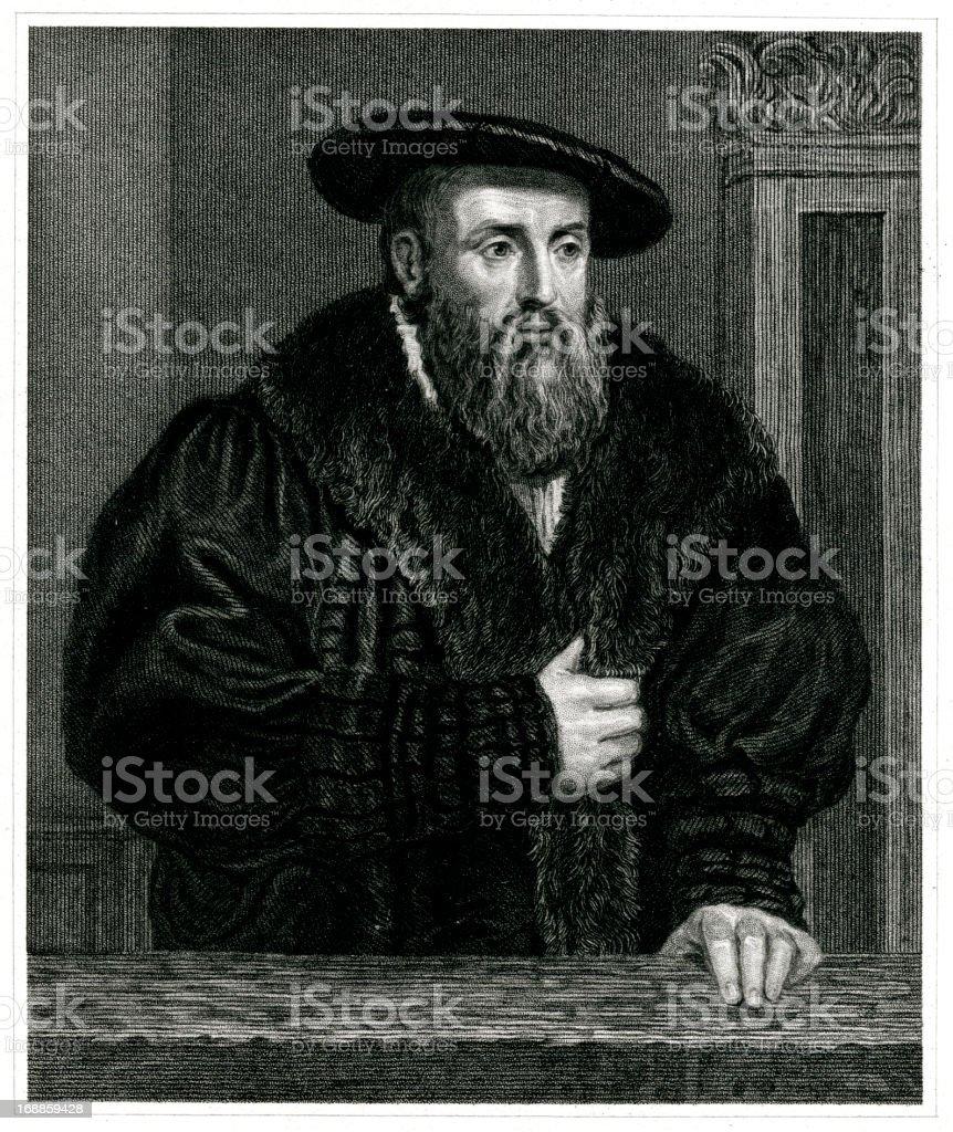 Johannes Kepler royalty-free stock vector art