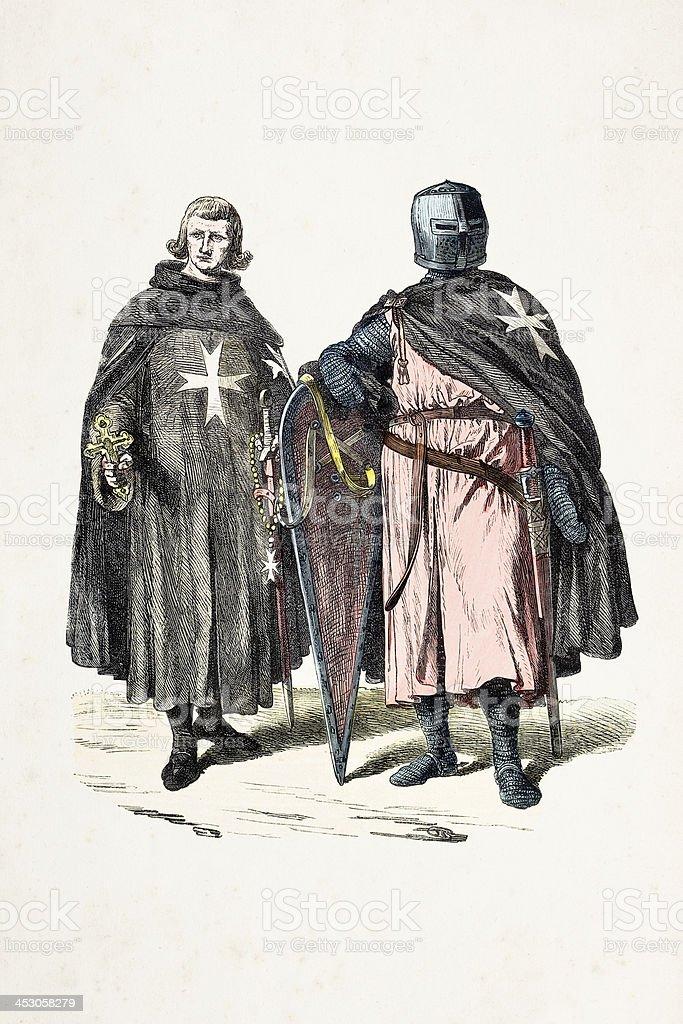 Johanniter 12 世紀の伝統的な衣装 - 19世紀のベクターアート素材や ...