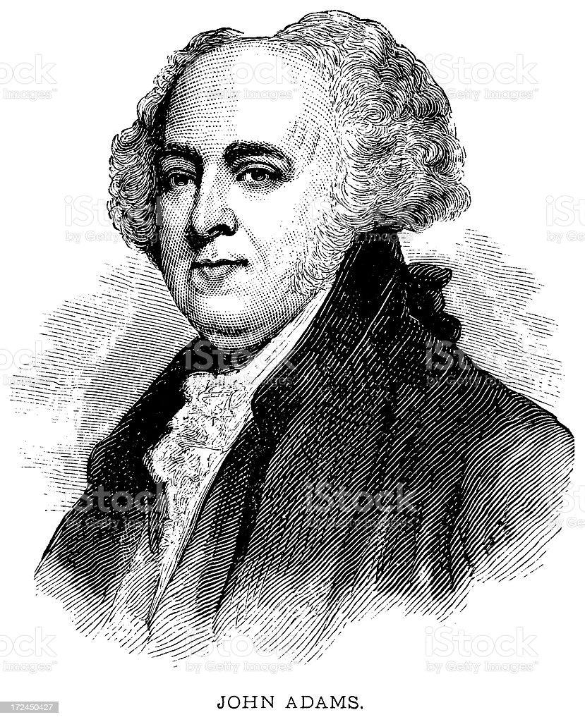 John Adams royalty-free stock vector art