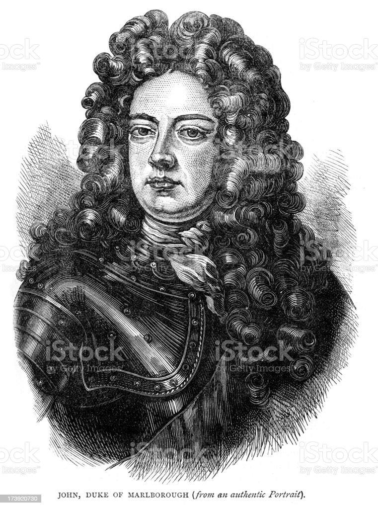 John Churchill 1st Duke of Marlborough royalty-free stock vector art