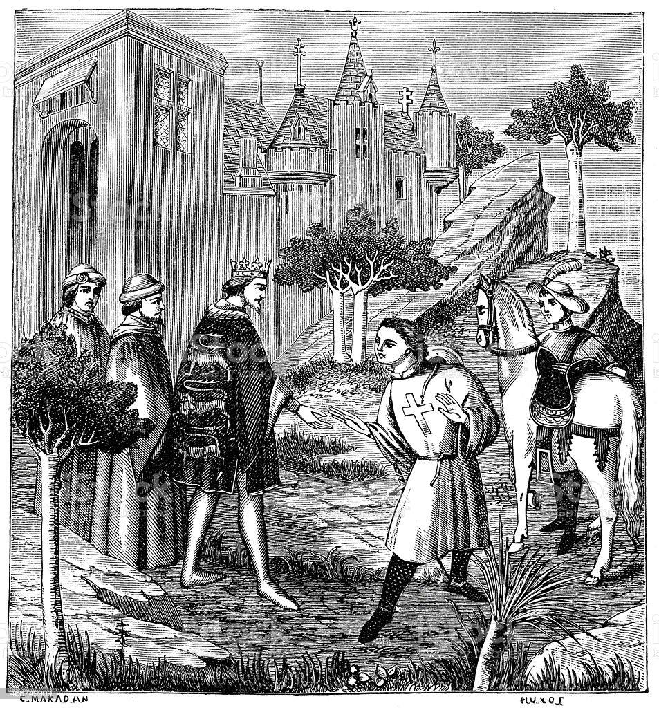 John de Mandeville royalty-free john de mandeville stock vector art & more images of adventure