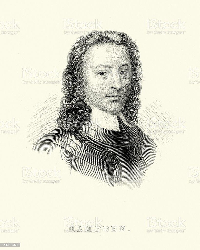 John Hampden vector art illustration