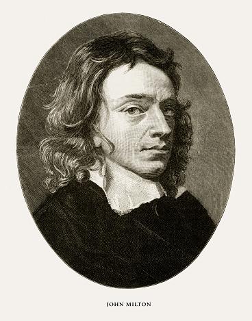 John Milton, English Victorian Engraving, 1887