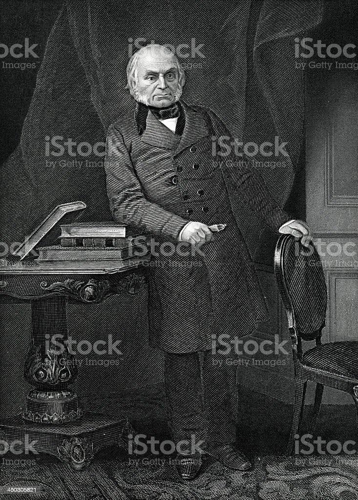 John Quincy Adams royalty-free stock vector art