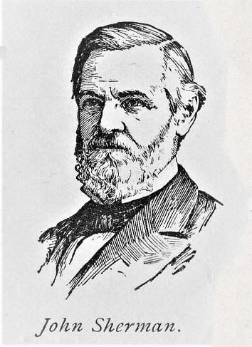 John Sherman Portrait, American Statesman 1800s