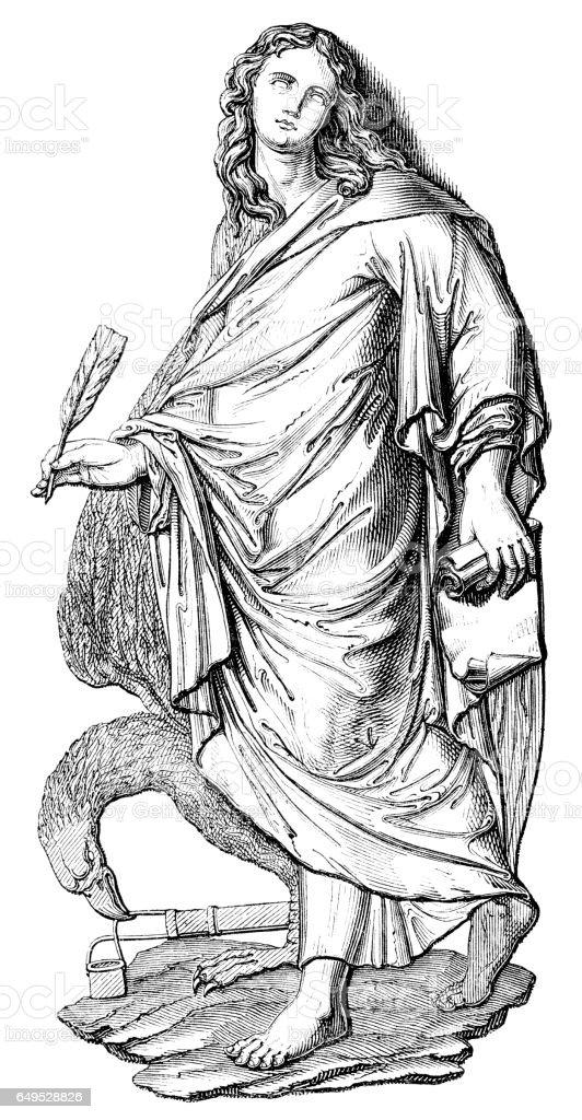 John the Evangelist illustration 1844 vector art illustration