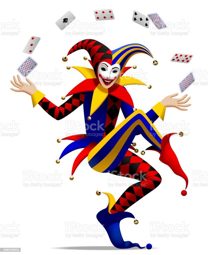 Joker avec les cartes à jouer - Illustration vectorielle