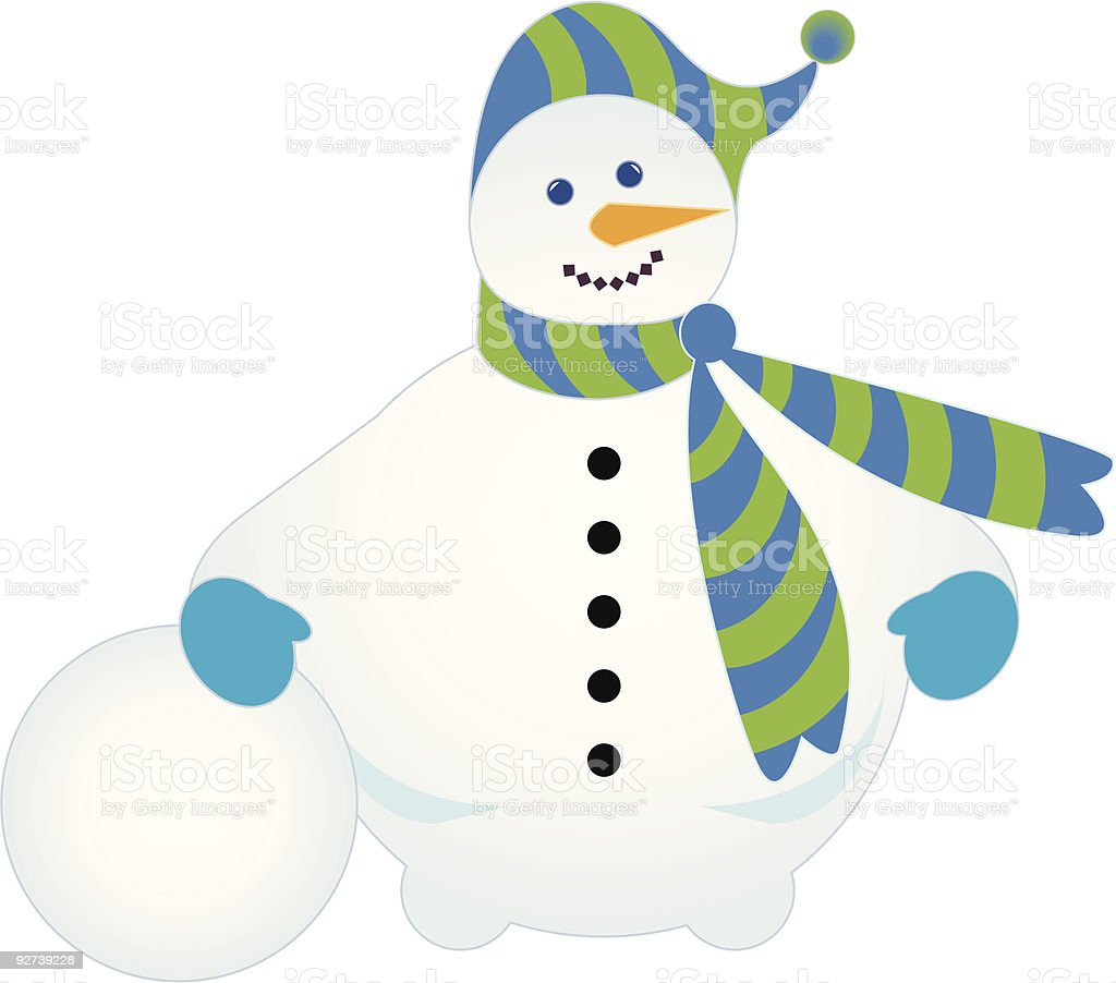 Jolly snowman with snowball royalty-free jolly snowman with snowball stock vector art & more images of animal nose