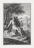 istock Jonah in the shade of plant (Jonah 4), published c.1850 867830088