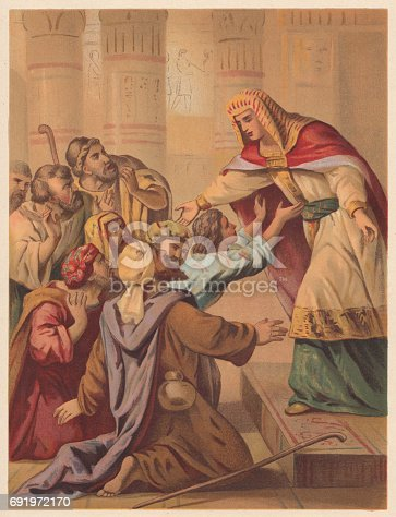Joseph Forgives His Brothers (Genesis 45). Chromolithograph, published, in 1886.