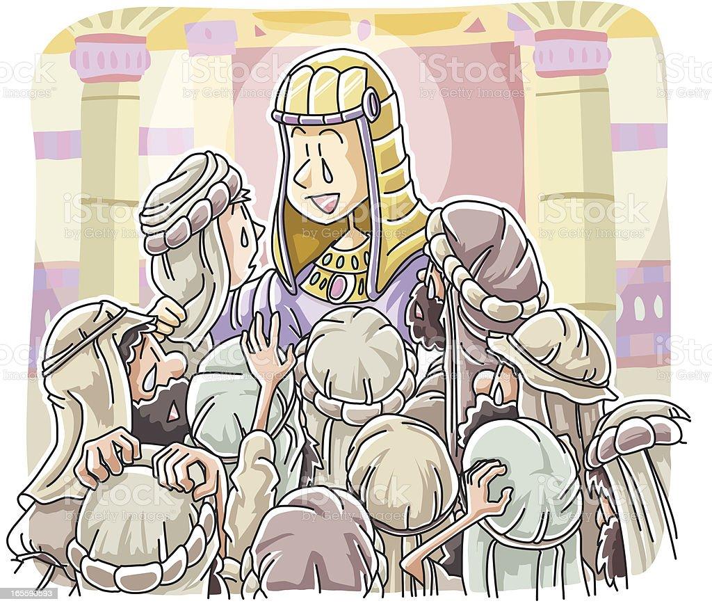 Joseph Makes Himself Known royalty-free stock vector art