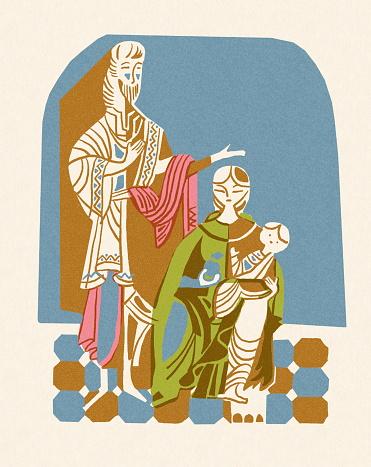 Joseph Mary and Baby Jesus