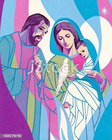 Joseph, Mary, and Jesus