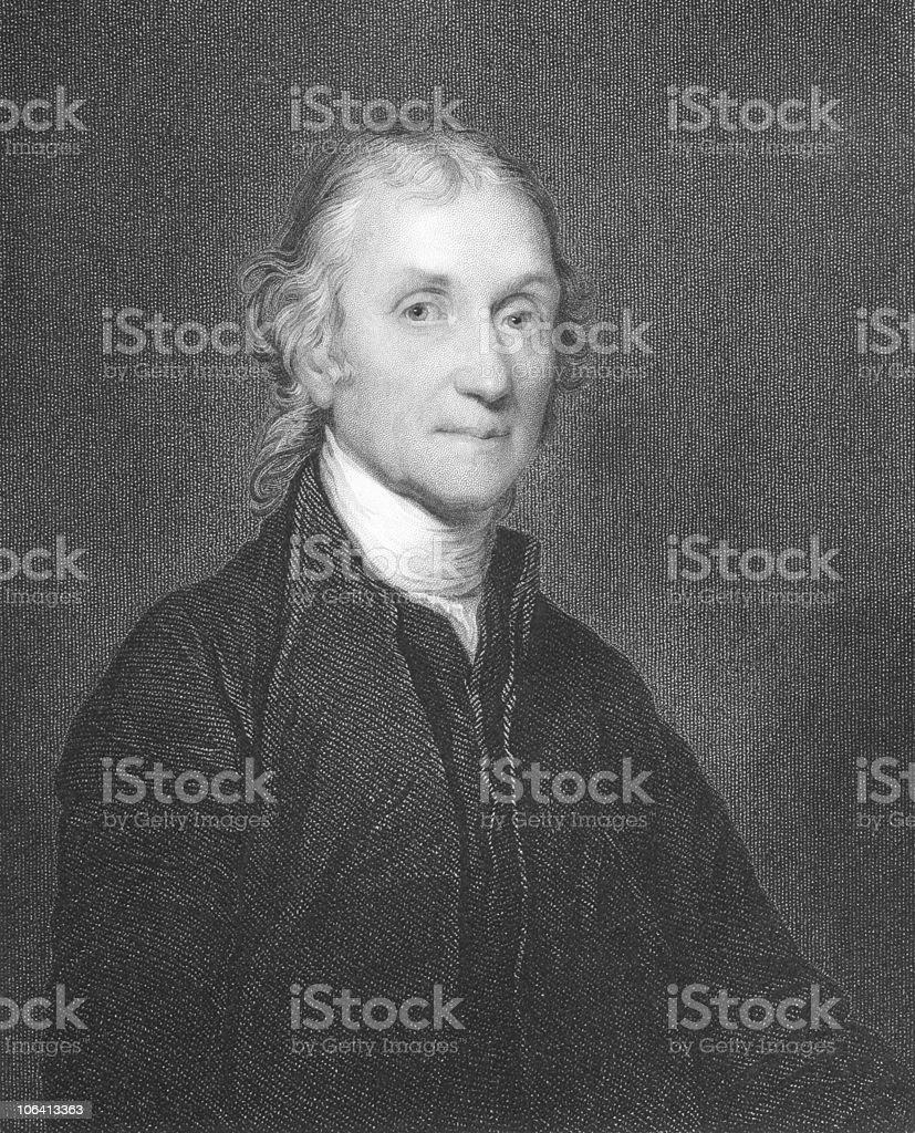 Joseph Priestley royalty-free stock vector art