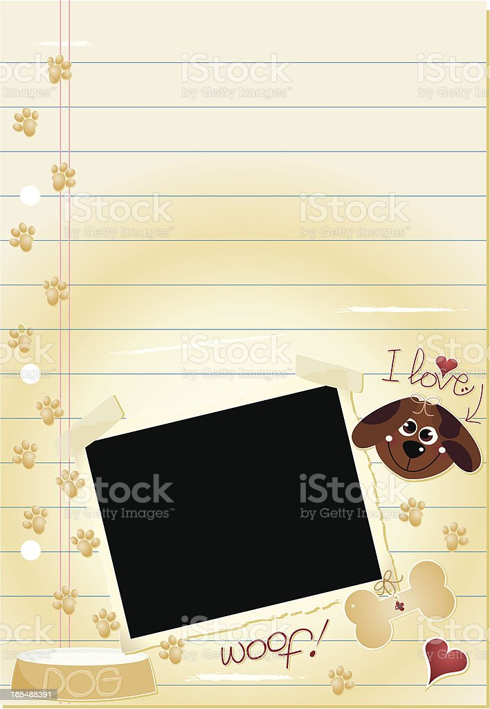 Journal Page -  I Love Dogs royalty-free journal page i love dogs stock vector art & more images of animal