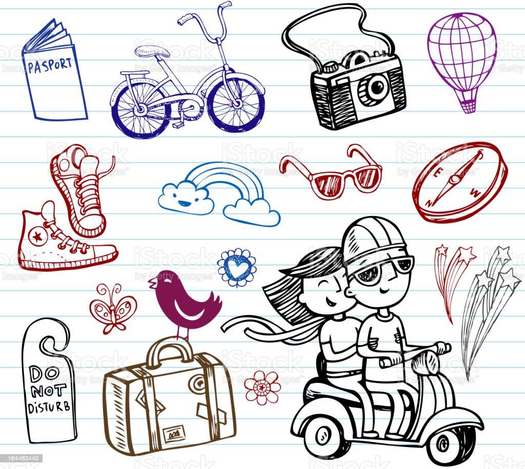 Journey vector art illustration