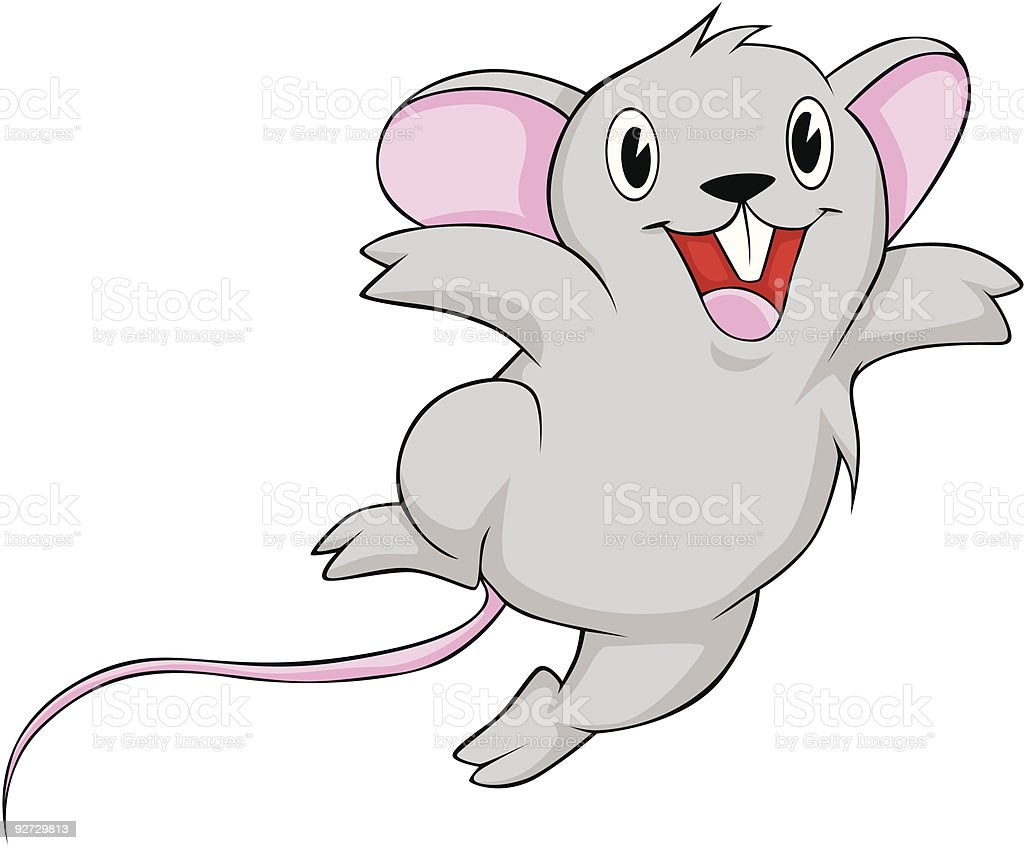 Joyful Mouse royalty-free stock vector art